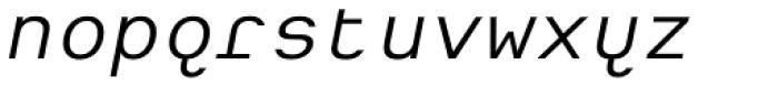 Heimat Mono Italic Font LOWERCASE