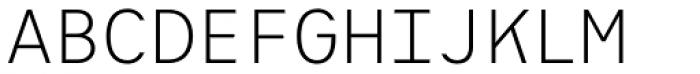 Heimat Mono Light Font UPPERCASE