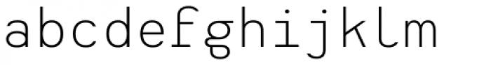 Heimat Mono Light Font LOWERCASE