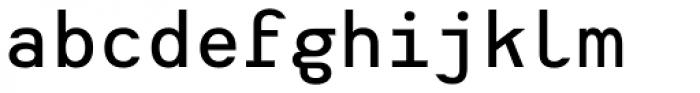 Heimat Mono SemiBold Font LOWERCASE