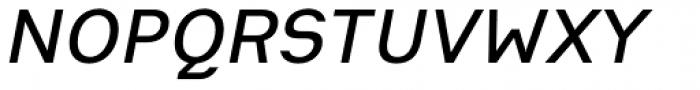 Heimat Sans SemiBold Italic Font UPPERCASE