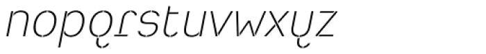 Heimat Stencil ExtraLight Italic Font LOWERCASE