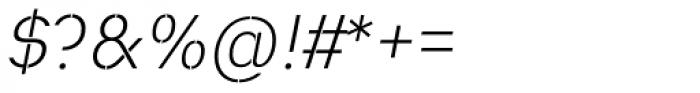 Heimat Stencil Light Italic Font OTHER CHARS