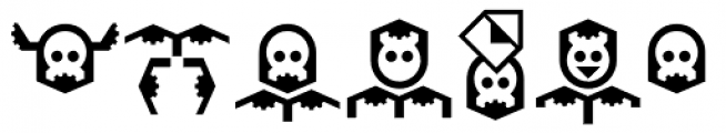 Hein TX3 Symbol Font UPPERCASE