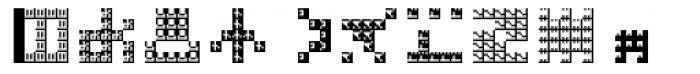 Hein TX5 Symbol In Type Bold Font LOWERCASE