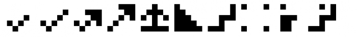 Hein TX5 Symbol Font UPPERCASE