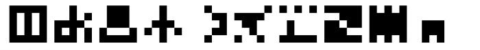 Hein TX5 Symbol Font LOWERCASE
