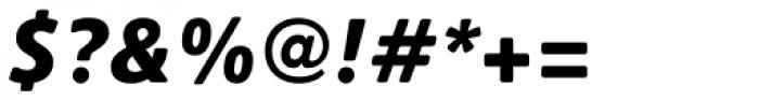 Heinemann Black Italic Font OTHER CHARS