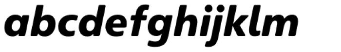 Heinemann Black Italic Font LOWERCASE