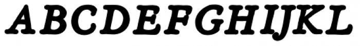 Heirloom Artcraft Black Italic Font UPPERCASE