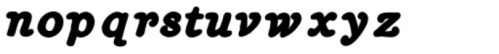 Heirloom Artcraft Black Italic Font LOWERCASE