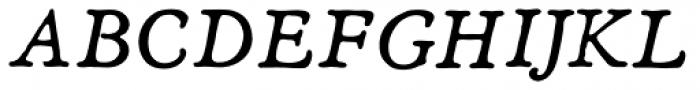 Heirloom Artcraft Book Italic Font UPPERCASE