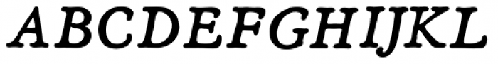 Heirloom Artcraft Demi Bold Italic Font UPPERCASE