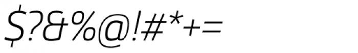 Helia Core Light Italic Font OTHER CHARS