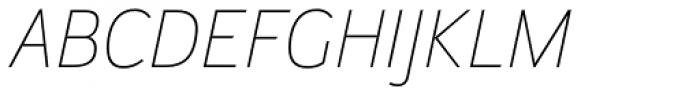 Helia Core Thin Italic Font UPPERCASE