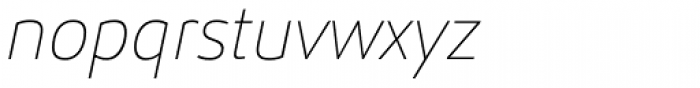Helia Core Thin Italic Font LOWERCASE