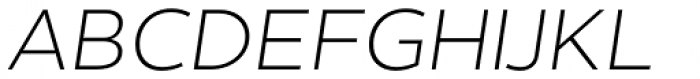 Helios Antique Light Italic Font UPPERCASE