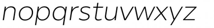 Helios Antique Light Italic Font LOWERCASE