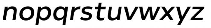 Helios Antique Semi Bold Italic Font LOWERCASE