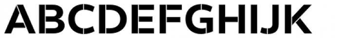 Helios Stencil Bold Font UPPERCASE