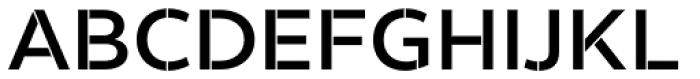 Helios Stencil Semi Bold Font UPPERCASE