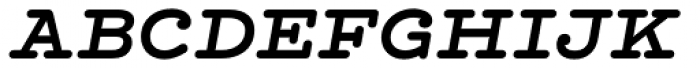 Hellenic Typewriter Bold Italic Font UPPERCASE