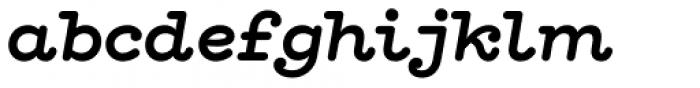 Hellenic Typewriter Bold Italic Font LOWERCASE