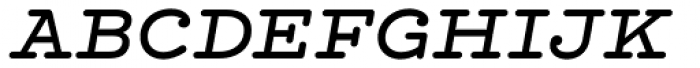 Hellenic Typewriter Medium Italic Font UPPERCASE