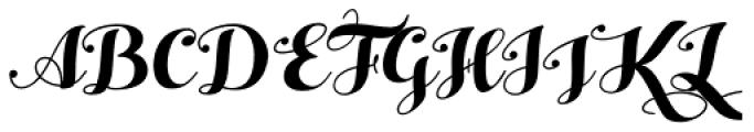 Hello Script Font UPPERCASE
