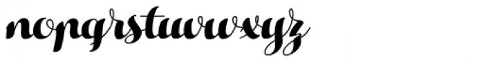 Hello Script Font LOWERCASE