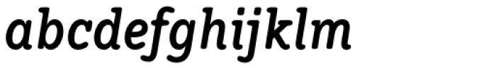 Hellschreiber Serif Bold Italic Font LOWERCASE