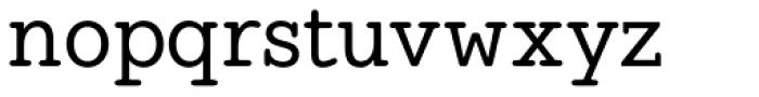Hellschreiber Serif Medium Font LOWERCASE