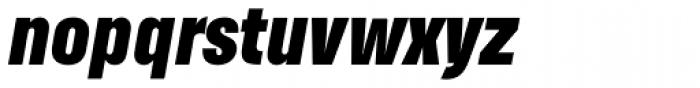 Helsinki Black Italic Font LOWERCASE