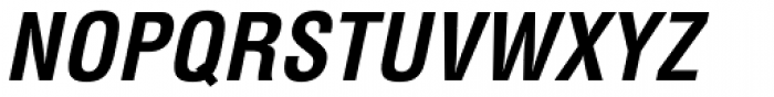 Helvetica Condensed Bold Oblique Font UPPERCASE