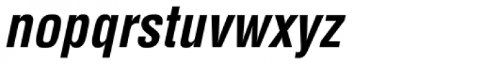 Helvetica Condensed Bold Oblique Font LOWERCASE
