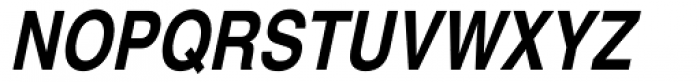 Helvetica Narrow Bold Oblique Font UPPERCASE