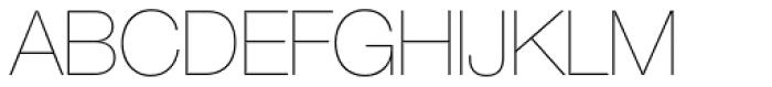Helvetica Neue 25 UltraLight Font UPPERCASE