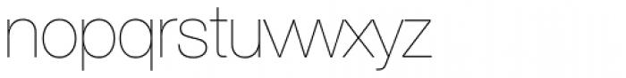 Helvetica Neue 25 UltraLight Font LOWERCASE