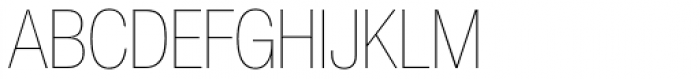 Helvetica Neue 27 Cond UltraLight Font UPPERCASE