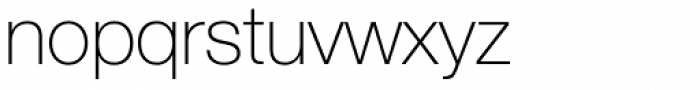 Helvetica Neue 35 Thin Font LOWERCASE