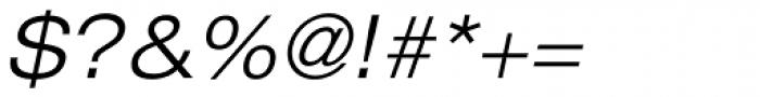 Helvetica Neue 43 Ext Light Oblique Font OTHER CHARS