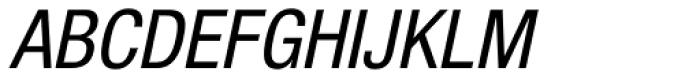 Helvetica Neue 57 Cond Oblique Font UPPERCASE