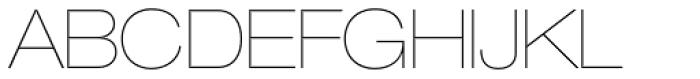 Helvetica Neue LT Std 23 UltraLight Extended Font UPPERCASE