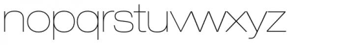 Helvetica Neue LT Std 23 UltraLight Extended Font LOWERCASE