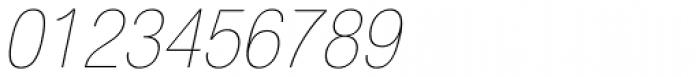 Helvetica Neue LT Std 27 UltraLight Condensed Oblique Font OTHER CHARS
