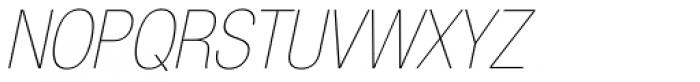 Helvetica Neue LT Std 27 UltraLight Condensed Oblique Font UPPERCASE