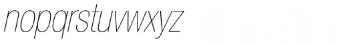 Helvetica Neue LT Std 27 UltraLight Condensed Oblique Font LOWERCASE