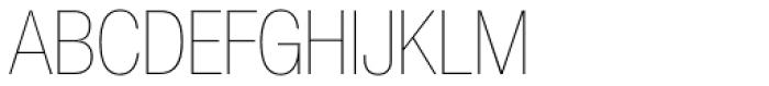 Helvetica Neue LT Std 27 UltraLight Condensed Font UPPERCASE