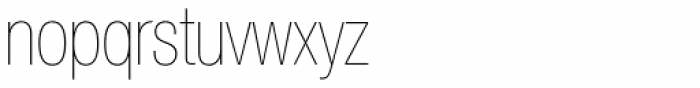 Helvetica Neue LT Std 27 UltraLight Condensed Font LOWERCASE