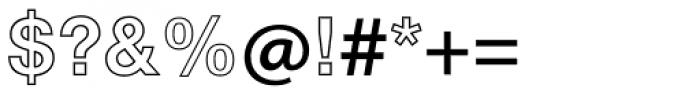 Helvetica Neue LT Std 75 Bold Outline Font OTHER CHARS